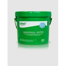 CLINELL dezinfekční ubrousky kbelík, 225 ks