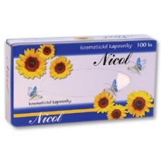 KAPESNÍČKY pap.kosmetické 2vrstvé v krabici 100 ks