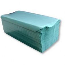 RUČNÍK PAPÍROVÝ Z-Z sklád.1vrstvý 250ks (1 balíček) zelený
