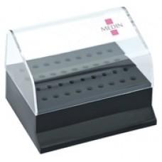 Krabička plastová na 36 vrtáčků (RA 18×, FG 18×) 74x59x54 mm