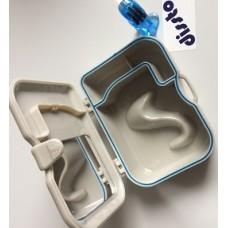 Krabička č.5 na zubní náhrady se zrcátkem a kartáčkem - cestovní