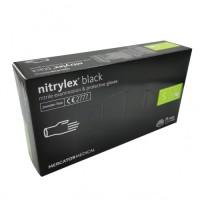 Rukavice vyšetřovací NITRILOVÉ černé bez pudru NITRYLEX BLACK 4g 100 ks