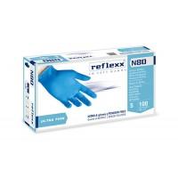 Rukavice vyšetřovací NITRILOVÉ lila REFLEXX N80 bez pudru 100 ks