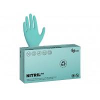Rukavice vyšetřovací NITRILOVÉ zelené bez pudru BIO  3,5 g 100 ks pouze velikost XS