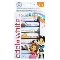 Sada 7 zubních ovocných past pro děti EDEL WHITE 9,4 ml