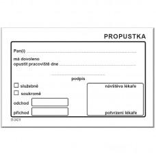 PROPUSTKA blok (100 listů)