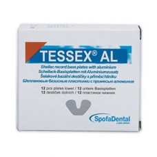 TESSEX AL šelakové bazální destičky s příměsí hliníku 12 ks