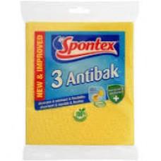 SPONTEX antibakteriální houbové utěrky 3 ks