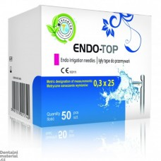 Jehla proplachovací ENDO-TOP 0,3x 25mm, 100 ks