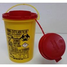 """Kontejner na použité jehly a nebezpečný odpad 600 ml kulatý """"kbelíček"""""""